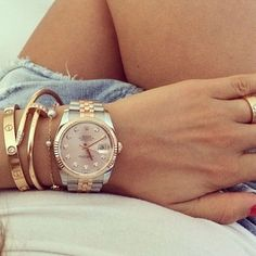 Rolex #Datejust White Dial diamond rose gold Swiss Watch