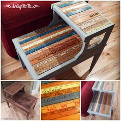 Hometalk :: Upcycled Table with Yardsticks