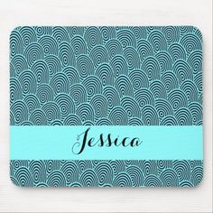 Custom name blue spiral waves mouse pad Business Supplies, Spiral, Kids Shop, Waves, Store, Blue, Tent, Shop Local, Larger