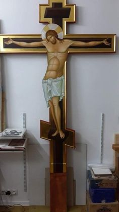 Jesus Art, Byzantine Icons, Prayer Room, Holy Cross, Religious Icons, Orthodox Icons, Crucifix, Cyprus, Christ Cross