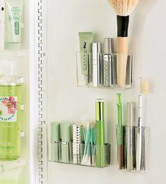 self-adhesive make-up organizers