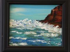 Acrylic painting - Big Sur - www.harrisartstudio.com