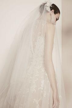 Elie Saab Bridal Spring 2018 | Brides.com Mod Wedding, Bridal Wedding Dresses, Bridal Style, Wedding Hair, Wedding Blog, Summer Wedding, Bridal Collection, Dress Collection, Elie Saab Printemps