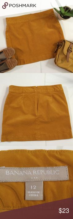 """Banana Republic Factory Corduroy Mini Skirt So Cute!!!! It Screams Fall 🍁🍂 it'd look great with tights and boots!! Petite Corduroy Size 12 with the waist measuring between 16.75-17"""" laying flat and a length of 16.5""""...Bundle to Save plus ⚡️📦📫😄💕 Banana Republic Skirts Mini"""