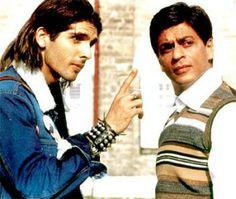 Shah Rukh Khan and Zayed Khan play estranged brothers in Farah Khan's masala movie Main Hoon Na Shah Rukh Khan Movies, Shahrukh Khan, Main Hoon Na, Zayed Khan, Srk Movies, My Childhood, Maine, Bollywood, Mens Sunglasses