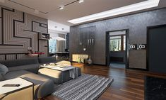 Projekt domu Artus 2 168,87 m2 - koszt budowy - EXTRADOM Modern Small House Design, Modern Barn House, Rustic Salon, Single Storey House Plans, Home Salon, Bungalow House Design, House Floor Plans, Architecture, Construction