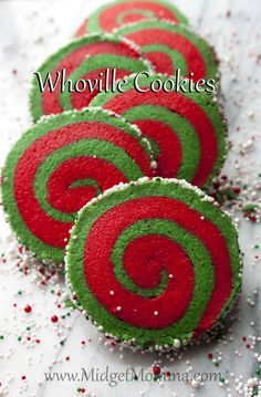 Whoville Cookies | Christmas Sugar Cookie Recipe. Easier to make then they look! Amazing sugar cookie recipe and these are perfect for your Christmas sugar cookies