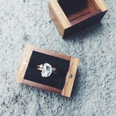 natural rose cut diamond ring + wedding band  ::  Alexis Russell