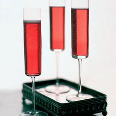 Pomegranate champagne cocktail!