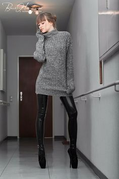 Ballet Boots, Ballet Heels, Latex, Alexandra Potter, Crotch Boots, Fetish Fashion, Mohair Sweater, Cute Sweaters, Skin Tight