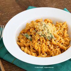 Vegan Pumpkin Sage Pasta with Pumpkin Cream Sauce and Crispy Sage. - Vegan Richa