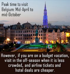 Planning a vacation of Belgium