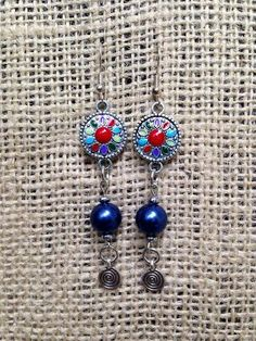 Vintage Style Dangle Earrings with a by CreativelyCraftedGA