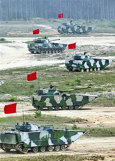 PLA ZTD-05 Light Tanks and ZBD-05 featured.