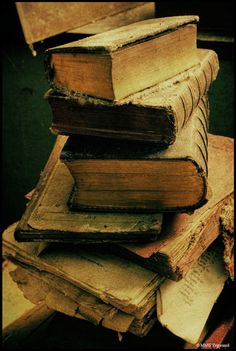 Layers of Old Worn Books..When I was in my 20's I dreamed of owning an Antiquities shoppe....
