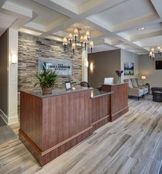 New Millennium Medical Integrated Medicine Lobby Design Doctors Office Decor, Medical Office Decor, Dental Office Design, Office Interior Design, Interior Exterior, Office Interiors, Doctor Office, Office Designs, Office Ideas