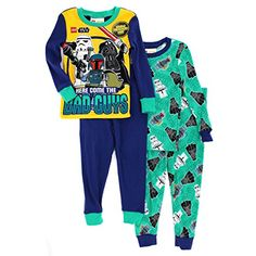 cc405e37e5 Lego Star Wars Boys 2fer 4 pc Cotton Pajamas (Blue Green Bad Guys