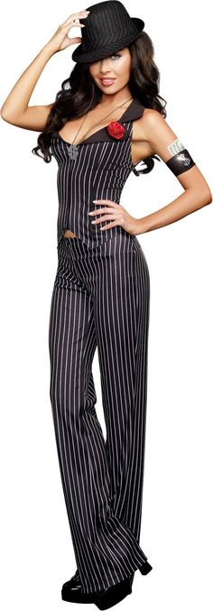 Adult Crime Time Gangster Costume - Party City  sc 1 st  Pinterest & Heist Hottie Gangster Adult Womens Costume - Spirithalloween.com ...