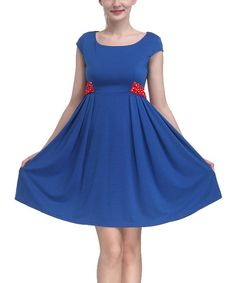 Look at this Blue Empire-Waist Sleeveless Dress - Women on #zulily today!