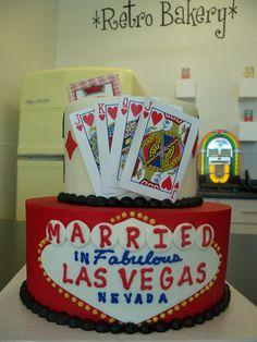 Cards cake by Retro Bakery Las Vegas