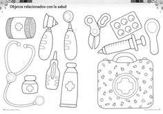 Body Preschool, Preschool Class, Preschool Science, Homeschool Kindergarten, Community Helpers Crafts, Community Helpers Kindergarten, Daycare Lesson Plans, Nurse Crafts, People Who Help Us