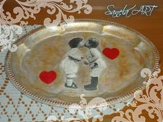 metal tray decoupage