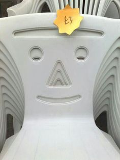Chair Faces Stacked