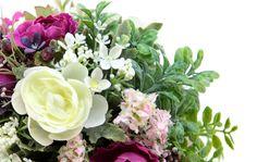 光触媒造花 3177「キャベッジローズとラナンキュラスのBTYのフラワーアレンジメント」 造花のフラワーアレンジメント 造花ドットコム www.zouka.com