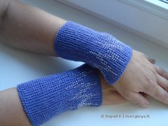 "Riesines ""Zigzagai"" Wrist Warmers, Fingerless Gloves, Mittens, Knitting, Tricot, Beads, Handarbeit, Fingerless Mittens, Fingerless Mittens"