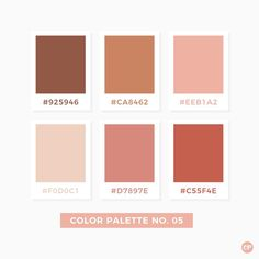 Color Palette No. 05 Color Palette No. Colour Pallette, Colour Schemes, Color Patterns, Autumn Color Palette, Color Combinations, Pantone Colour Palettes, Pantone Color, Pink Color Palettes, Rustic Color Palettes