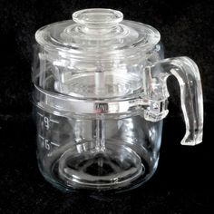Pyrex Vintage USA Blue Flame 9-Cup Coffee Percolator #7759 c.1946-1970 #PyrexBlueFlame