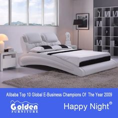 Golden suppliers white cheapest double bed