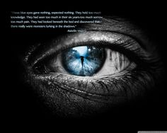 """These blue eyes gave nothing…""-Raistlin Majere - More at: http://quotespictures.net/22340/these-blue-eyes-gave-nothing-raistlin-majere"