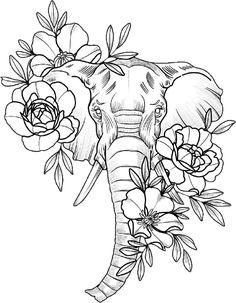 Elephant Tattoos Elefantes Disney Tattoos – tattoos for women small Dope Tattoos, Body Art Tattoos, Small Tattoos, Sleeve Tattoos, Tatoos, Portrait Tattoos, Tattoos For Guys, Elephant Tattoo Design, Elephant Tattoos