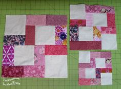 Crossroads block - tutorial for 3 sizes