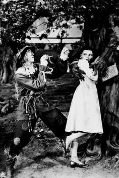 Scarecrow fighting for the lady