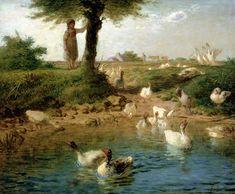 "Jean-François Millet, ""The Goosegirl"""