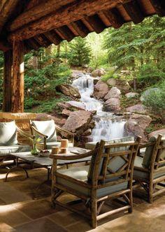 Relaxing garden and backyard waterfalls 32