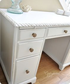 I LOVE all refinishing ideas on this blog.  Maybe I won't have to throw away all my husband's old furniture....