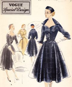 Vintage 1950s Vogue special design dress pattern - Vogue S-4239. $26.99, via Etsy.