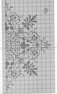 Cross Stitch Borders, Cross Stitch Patterns, Cross Stitches, Filet Crochet, Crochet Edgings, Monochrom, Pixel Art, Embroidery, Crafts