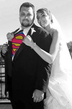 "Our ""super"" wedding photo"