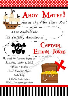Shop for stickers on Etsy, the place to express your creativity through the buying and selling of handmade and vintage goods. Pirate Invitations, Invitation Cards, Invite, 5th Birthday, Birthday Parties, Caribbean Party, Ahoy Matey, Pirate Party, Pirates Of The Caribbean