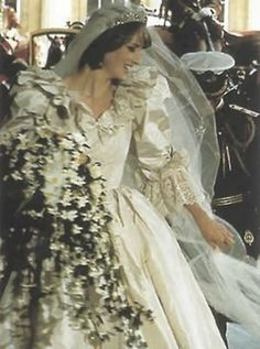 Diana on her wedding day