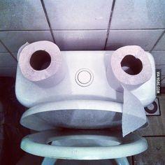 Toilet that makes you smile :D
