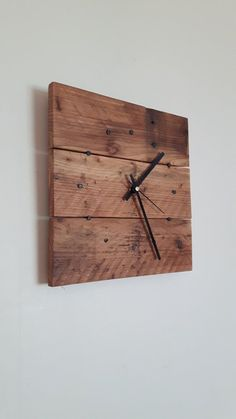 Wall Clock Reclaimed Wood Wall Clock Wall by SpudsCreativeAsylum