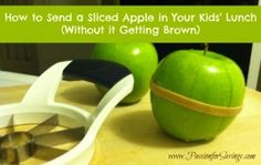 Find out how easy it is to send a sliced apple in your kids lunch without it going brown before lunch time!