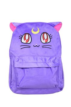 Cute Sailor Moon Luna Fluffy Plush Backpack