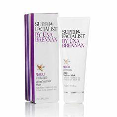 Hyaluronic Acid Beauty Product - Una Brennan - Super Facilist - Neroli Firming Lifting Treatment Mask.