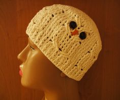 "Шапочка ""СОВА"" Ч -1 Beanie ""owl"" Crochet P -1 https://www.youtube.com/watch?v=hMCe5lw4azU"